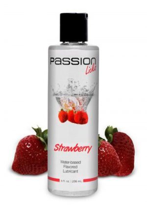Passion Licks Water-based Flavored Lubricant Strawberry 8 Ounce