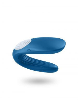 Partner Whale Silicone USB Rechargeable Couples Vibe Waterproof Blue