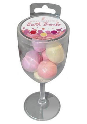 Wine Scented Bath Bombs 3 Scents 8 Bombs Per Glass