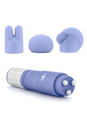 Rose Revitalize Massage Kit With Silicone Attachments Waterproof Periwinkle