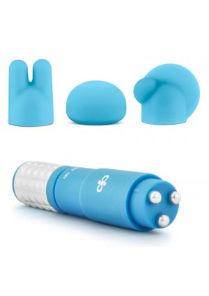 Rose Revitalize Massage Kit With Silicone Attachments Waterproof Blue