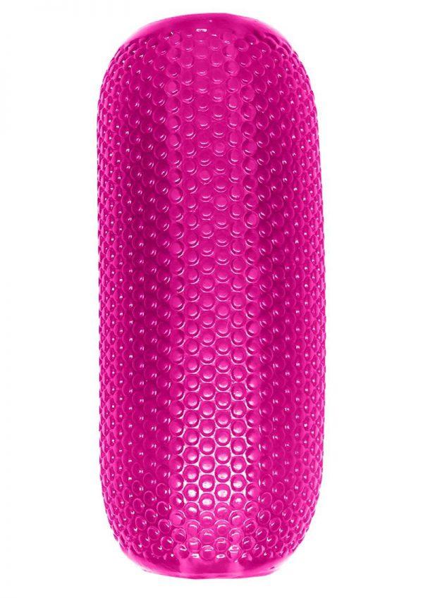 Neon EZ Grip Stroker Textured Masturbator Pink