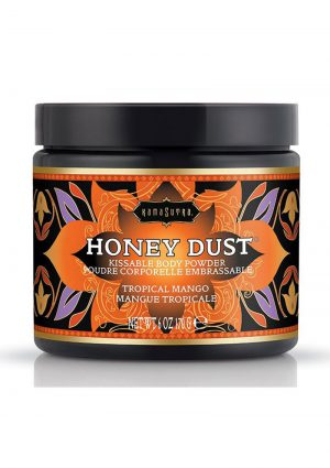 Honey Dust Kissable Body Powder Tropical Mango 6 Ounce