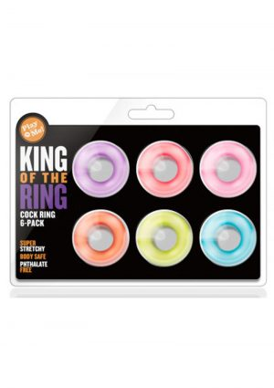 Play with Me King Of The Ring Cock Ring Waterproof 6 Pack