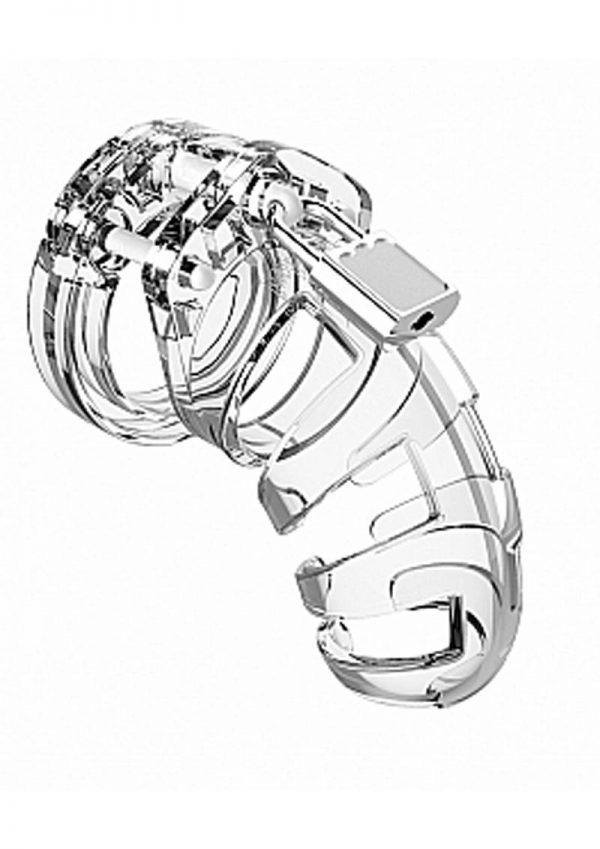 Man Cage Model 02 Male Chastity With Lock Clear 3.5 Inch