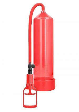 Pumped By Shots Comfort Beginner Penis Pump Red