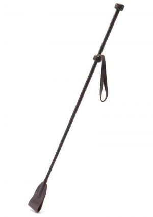 Coco de Mer Leather Riding Crop Brown 26 Inch