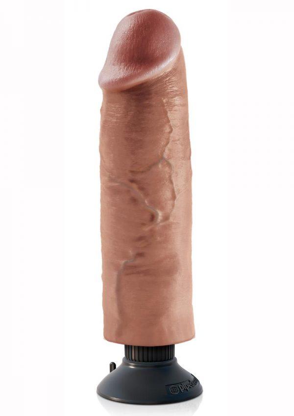 King Cock Vibrating Cock Waterproof Tan 10 Inches