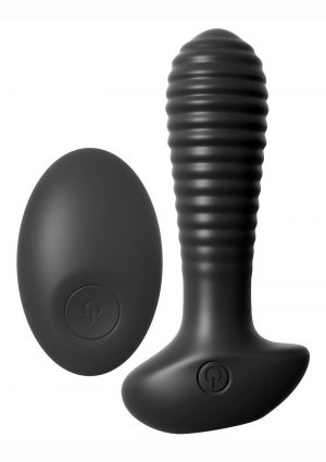 Anal Fantasy Elite Silicone Wireless Remote Control Anal Teaser Waterproof Plug Black  4.7 Inch
