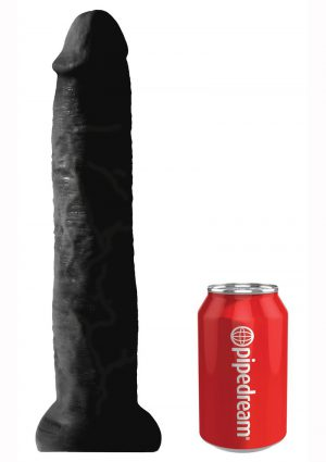 King Cock Non Vibrating Cock Black 13 Inches