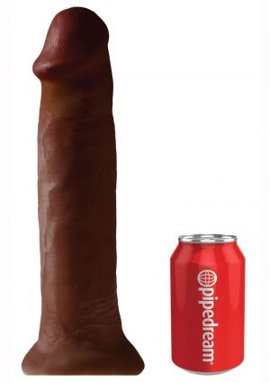 King Cock Non Vibrating Cock Brown 14 Inches