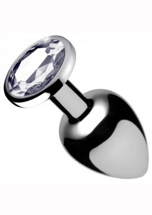 Booty Sparks Anal Plug Clear Gem Large 4 Inches