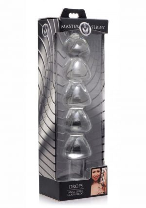 Master Series Drops Anal Links Glass Dildo 11 Inches
