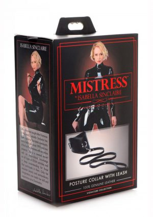 Mistress Isabella SinclaIre Posture Collar With Leash