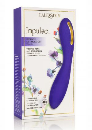 Impulse Intimate E-Stimulator Wand Silicone Rechargeable Waterproof Purple