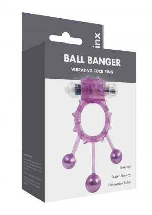 Linx Ball Banger Cock Ring Purple Os
