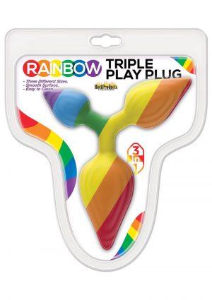 Rainbow Triple Play Plug