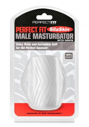 Male Masturbator W/grip Clear