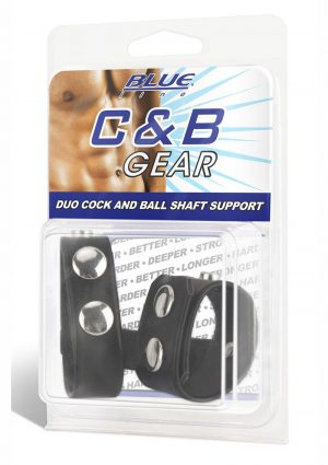 Blue Line C and B Gear Duo Cock And Ball Shaft Support Adjustable Snaps Black