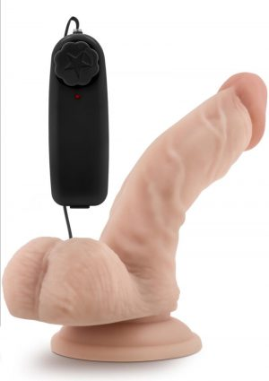 Dr. Skin Dr. Ken Wired Remote Control Vibrating Realistic Cock With Suction Cup Waterproof Vanilla 6.5 Inch