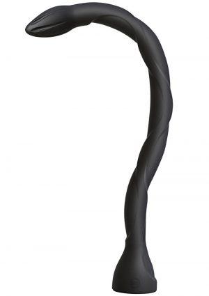 Kink Secondskyn Dual Density Silicone Anal Snake Black 20.25 Inch