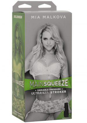 Main Squeeze Mia Malkova Variable Pressure Ultraskyn Stroker Pussy Masturbator Vanilla 8 Inch