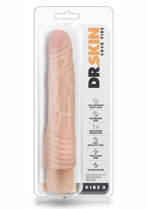 Dr. Skin Cock Vibe 2 Realistic Vibrator Splashproof Beige 9 Inch