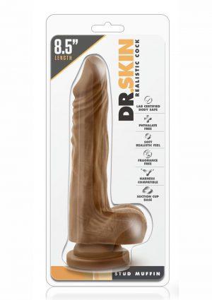 Dr. Skin Stud Muffin Realistic Cock Mocha 8.5 Inch