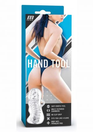 M For Men Hand Tool Textured Stroker Clear 4.5 Inch