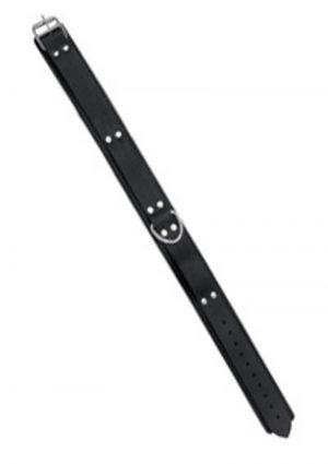 Double Strap Original Cut Leather Collar Black