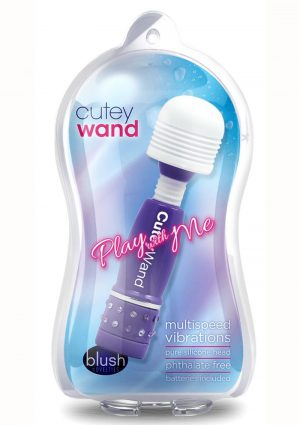 Pwm Cutey Wand Purple Mini Massager Mullti Speed