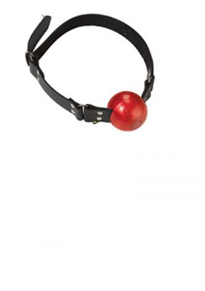 Large Ball Gag With D Ring 2 Inch Red