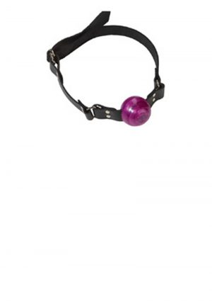 Small Ball Gag With D Ring 1.5 Inch Purple