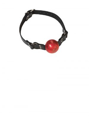 Small Ball Gag With Buckle 1.5 Inch Red