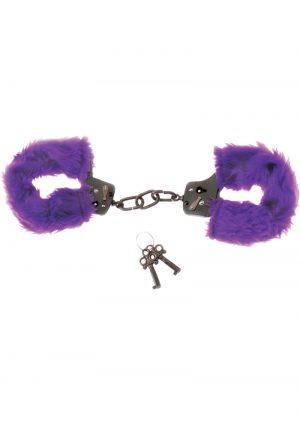 Purple Fur Line Handcuffs