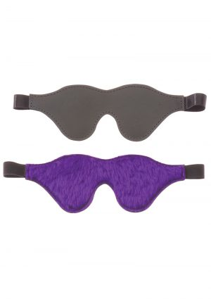 Purple Fur Line Classic Cute Blindfold