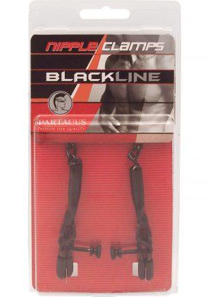 Blackline Adjustable Spring Jaw Nipple Clamps Black