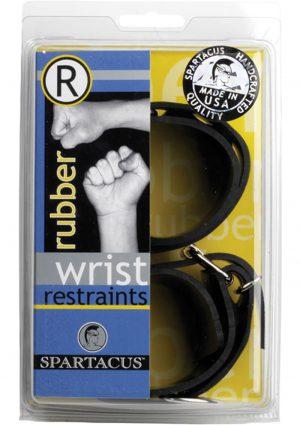 Rubberline Locking Wrist Restraints Black