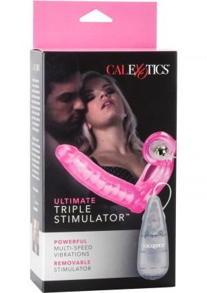 The Ultimate Triple Stimulator Flexible Probe And Enhancer With Removable Multispeed Bullet Pink