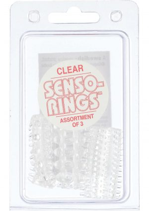 Sensi Rings Clear 3 Pack For Use in Penis Or Vibrator