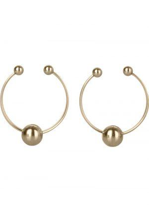 Nipple Rings Non Peircing Gold