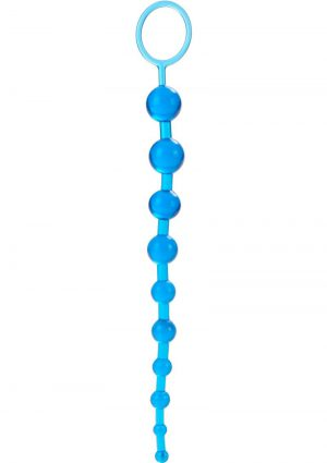 X 10 Beads Graduated Anal Beads 11 Inch Blue