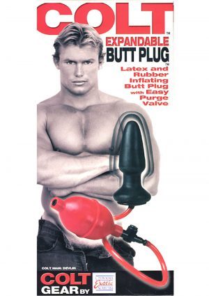 COLT EXPANDABLE BUTT PLUG DEVLIN BLACK and RED
