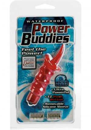 Waterproof Power Buddies With Silicone Sleeve Red Toungue
