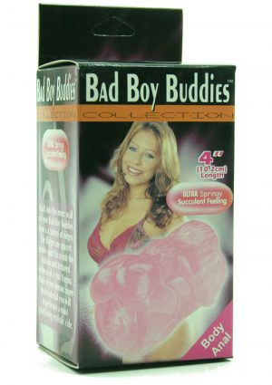 BAD BOY BUDDIES BODY BODY ANAL 4 INCH PINK
