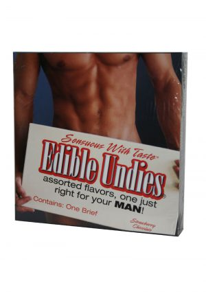 Sensuous With Taste Edible Undies Male Strawberry And Chocolate