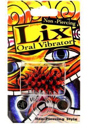 Lix Non Piercing Oral Vibrator Red Black