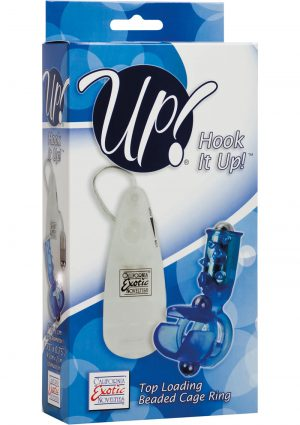 Up Hook It Up Top Loading Beaded Remote Cage Ring Waterproof Blue