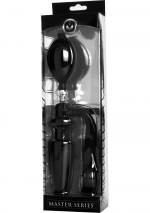 Master Series Exxpander Inflatable Plug And Cockring Black