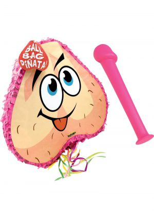 Bachelorette Pecker Bat and Balls Pinata Combo Pink